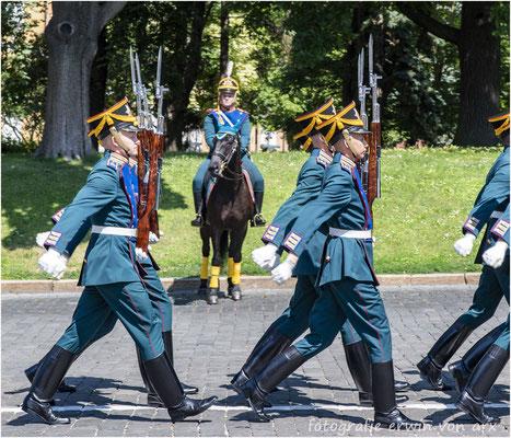 Moskau, Kremel. Parade der Wachsoldaten