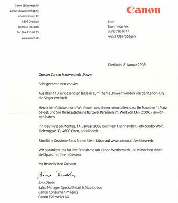 """Mit dem gleichen Bild gewann ich auch den Schweizer Canon Fotowettbewerb """"Power"""""""