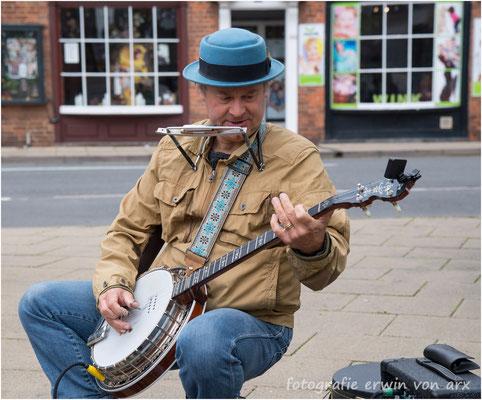 Strassenmusiker in Birmingham