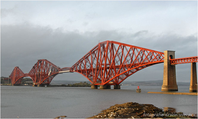 Scotland, Forth Bridge bei Edinburgh