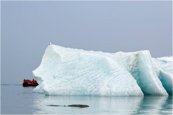 Wir unfahren grössere Eisblöcke