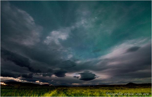 Nordlichter bei Reykjahlid