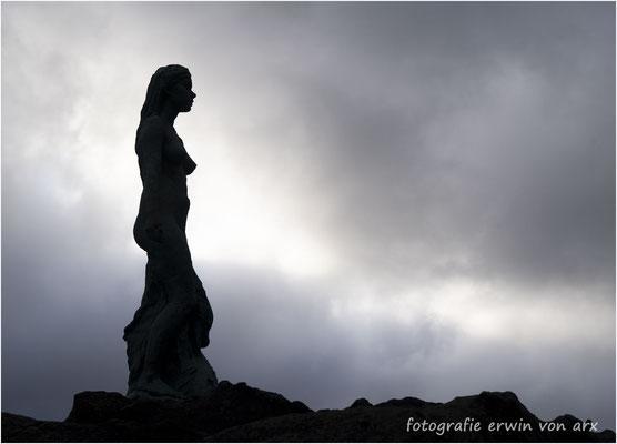 Die Robbenfrau als Sihouette