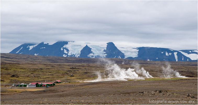 Hveravellir, Geothermal area vor dem Langjökull