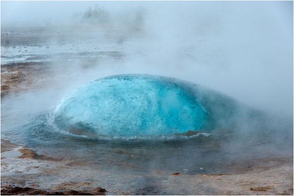 Island, ein Naturschauspiel, Blasenbildung