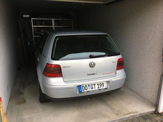 Garage vorher...
