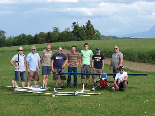 Teilnehmer Segelflugwettbewerb