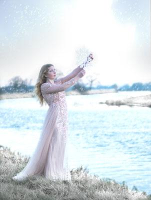 modelfotografie, fantasie, sneeuw, fotograaf hardenberg, fotograaf overijssel, portretfotografie