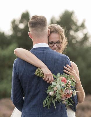 Bruidsfotografie, Lemelerberg, bruidsfotograaf, heide, fotografie Hardenberg, trouwreportage