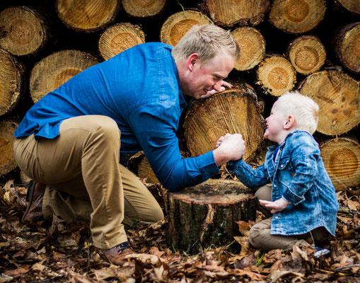 fotografie Hardenberg, vader en zoon