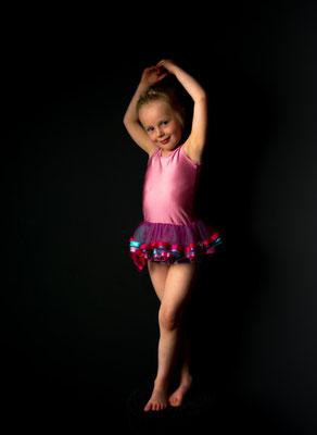Kind ballerina, studio, Bergentheim, fotograaf Hardenberg