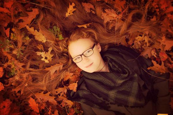 Fotoshoot 1 persoon, herfst, Bergentheim, Overijssel, fotograaf Hardenberg