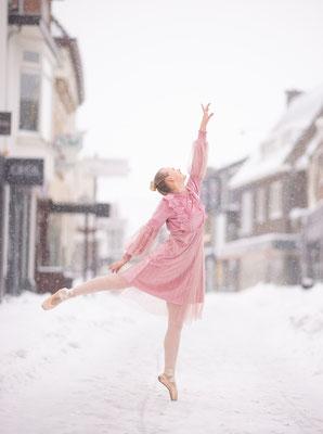 modelfotografie, fantasie, sneeuw, fotograaf hardenberg, fotograaf overijssel, ballet