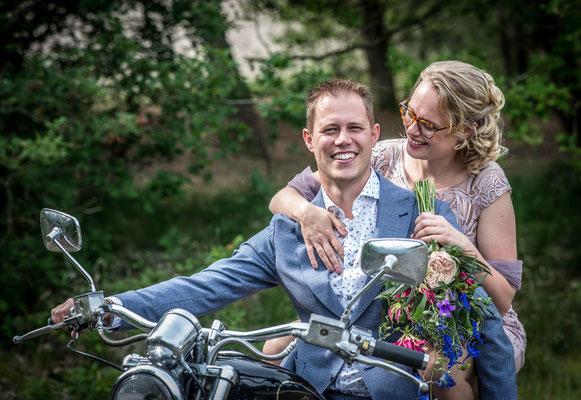 Fotografie Hardenberg, bruiloftsfotografie, trouwreportage Hardenberg, motor