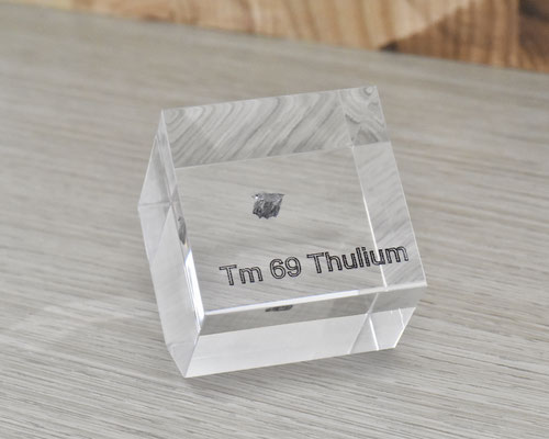 thulium acrylic cube, metal acrylic cube, thulium metal, thulium, thulium element cube, thulium acrylic, acrylic cubes of elements for collection and display