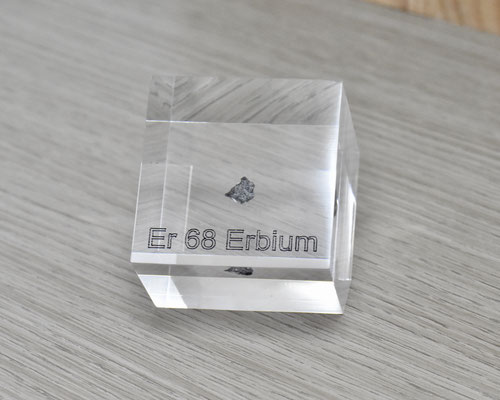 erbium acrylic cube, metal acrylic cube, erbium metal, erbium, erbium element cube, erbium acrylic, acrylic cubes of elements for collection and display