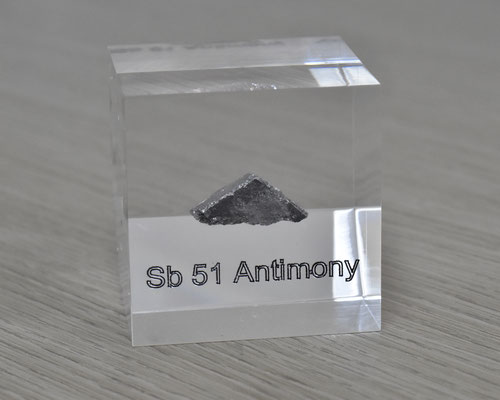 antimony acrylic cube, metal acrylic cube, antimony metal, antimony, antimony element cube, antimony acrylic, acrylic cubes of elements for collection and display
