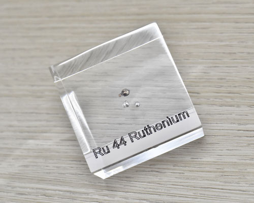 ruthenium acrylic cube, metal acrylic cube, ruthenium metal, ruthenium, ruthenium element cube, ruthenium acrylic, acrylic cubes of elements for collection and display