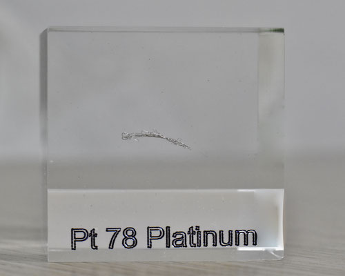 platinum acrylic cube, metal acrylic cube, platinum metal, platinum wire, platinum element cube, platinum acrylic, acrylic cubes of elements for collection and display