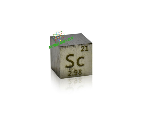 scandium cube, scandium metal cube, scandium cubes, scandium density cubes, metal density cubes, scandium cube for collection and display