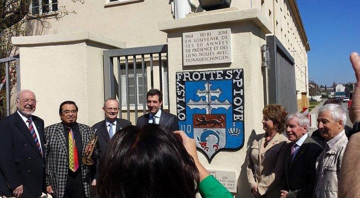 23 avril 2015 : Après l' inauguration des plaques commémoratives pour les 50 ans de présence du 110 à Donaueschingen.