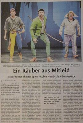 Zeitungsartikel 10.11.2017 - Westfälisches Volksblatt  - Ein Räuber aus Mitleid