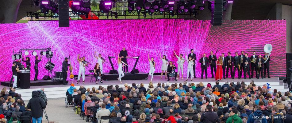 SCHILLER mit dem Berlin Show Orchestra bei der IGA - Eröffnung 2017 | Foto Stefan Karl Hetz