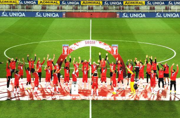 """Corona"" - Cupfinale RB Salzburg : Lustenau"