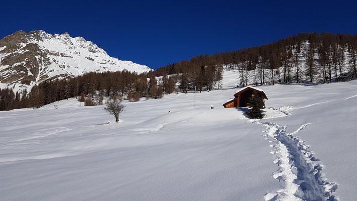 Unsere Chamonna im Winter