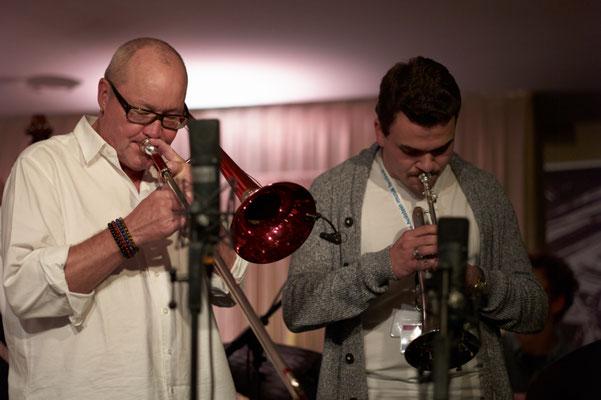 Martin Berner bei JazzBaltica mit Nils Landgren