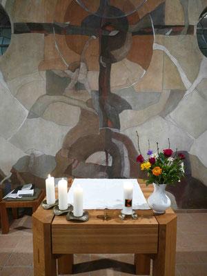 Gottesdienst in der Seitenkapelle der Kirche zur Hlst. Dreifaltigkeit