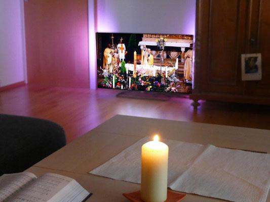 12 April 2020 Ostergottesdienste sind nur über das Fernsehen noch möglich