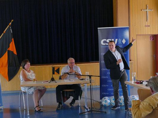 Politischer Frühschoppen mit Johannes Hintersberger, MdL Staatssekretär a. D. und Rolf Schnell Ortsvorsitzender der CSU Kriegshaber