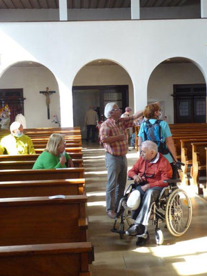 19. September 2020 Kolping Fahrrad- Überraschungs- Fahrt Meitingen St. Anton Kirche Ausgemalt von Karl Radinger