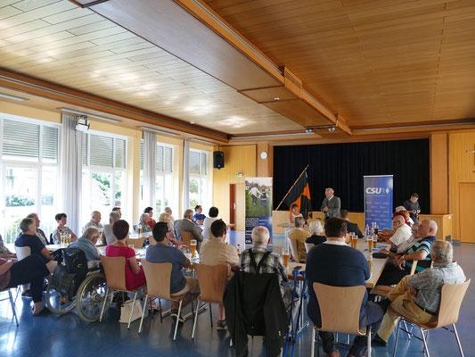 Politischer Frühschoppen mit Johannes Hintersberger, MdL Staatssekretär a. D. zum Thema: Neues aus dem Bayrischen Landtag