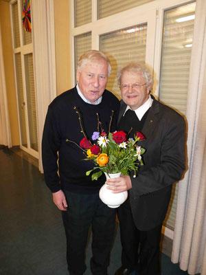 Hr. Kirchmann und Pfarrer Johannes Rauch