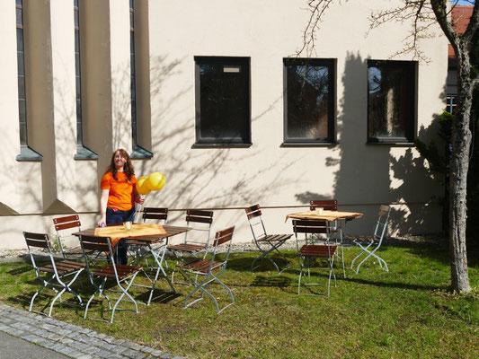 2019 03 23 Kolping und Frauenbund Kaffeebereich vor dem Pfarrheim