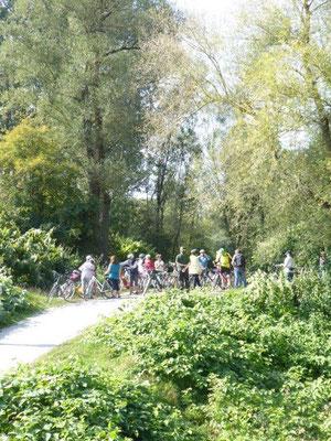 19. September 2020 Kolping Fahrrad- Überraschungs- Fahrt Rückfahrt entlang am Lech