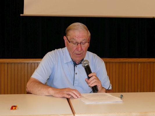 Kassenbericht unseres Langjährigen Kassierers Josef Höflmeier