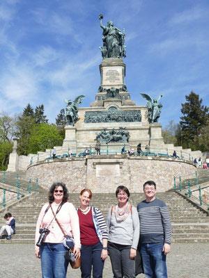 Kolping Jahresfahrt an die Mosel 16.04.2018 Rüdesheim Niederwald Denkmal