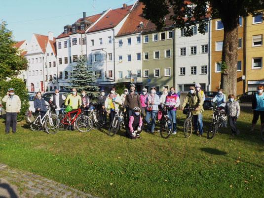 19. September 2020 Kolping Fahrrad- Überraschungs- Fahrt Start am Kirchhof nach Meitingen