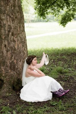 Brautfrisur romatisch