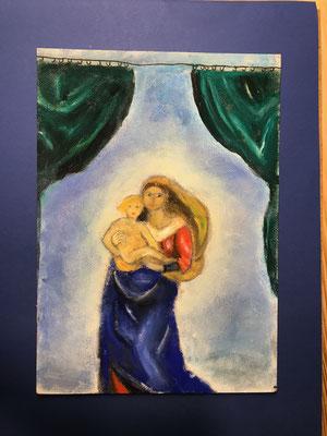 Frei nach Rafael - Madonna mit Jesuskind