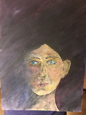Selbstbildnis Manoush mit blauen Augen