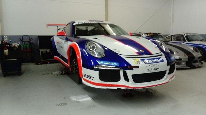 Porsche GT3 Cup reparierter Edelstahl Endschalldämpfer