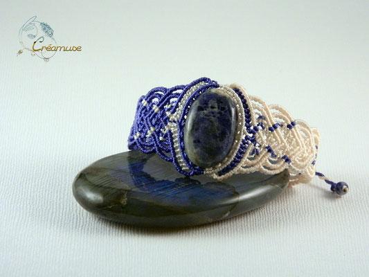 Bracelet Macramé Sodalite