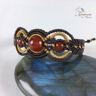 Bracelet Macramé Cornaline