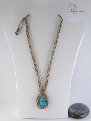 Collier Macramé Turquoise
