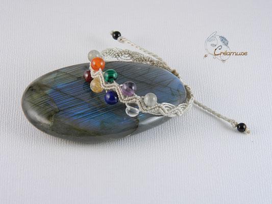Bracelet Macramé 7 Chakras