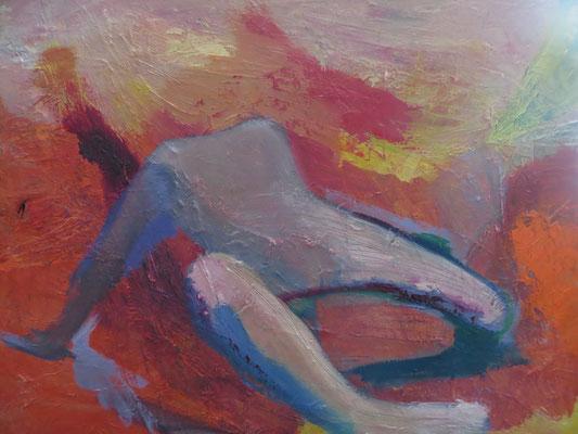 """Titre """"Baile de color"""" (2014) / 60 cm x 40 cm / Peinture à l'huile sur toile / Prix: 1900€"""